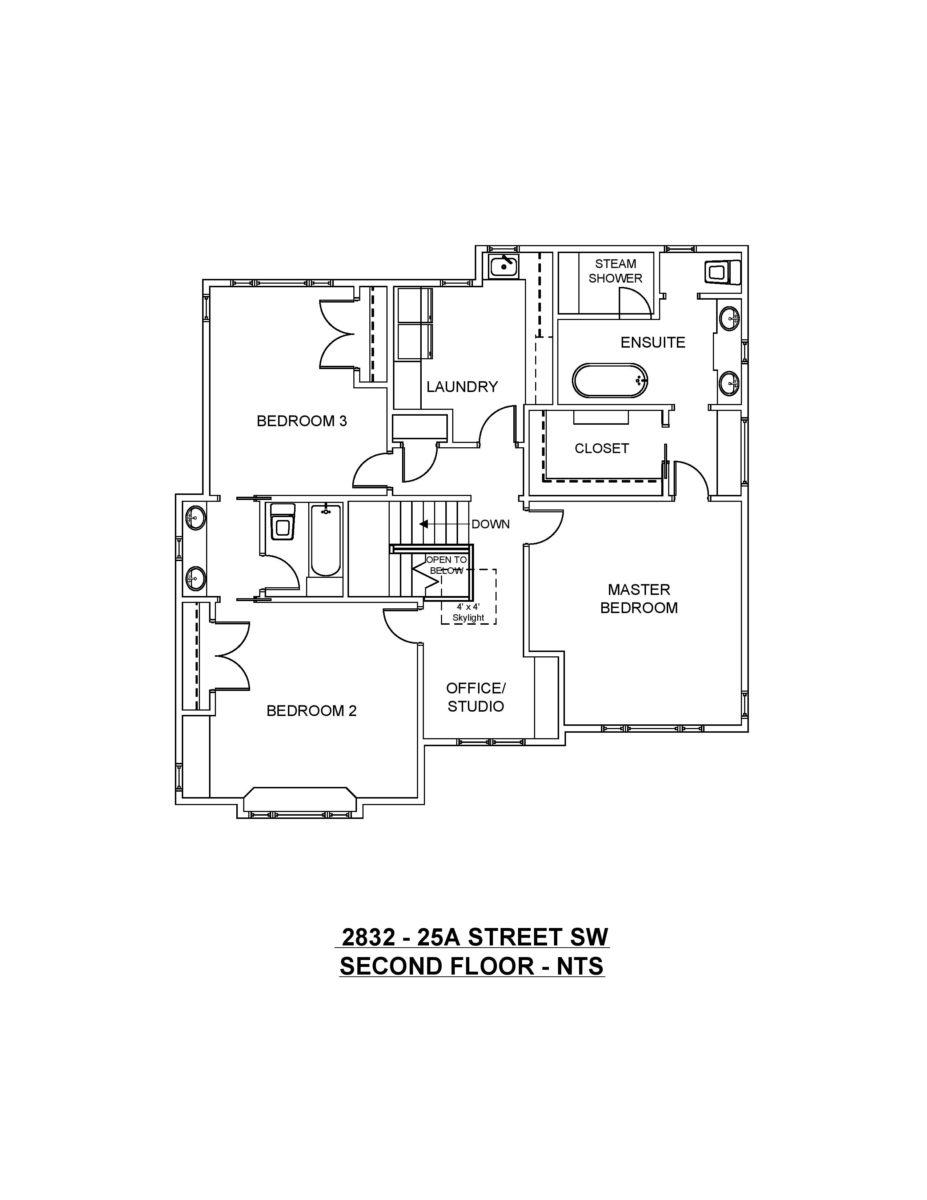 Second Floor Plan 2832 - 25A SW